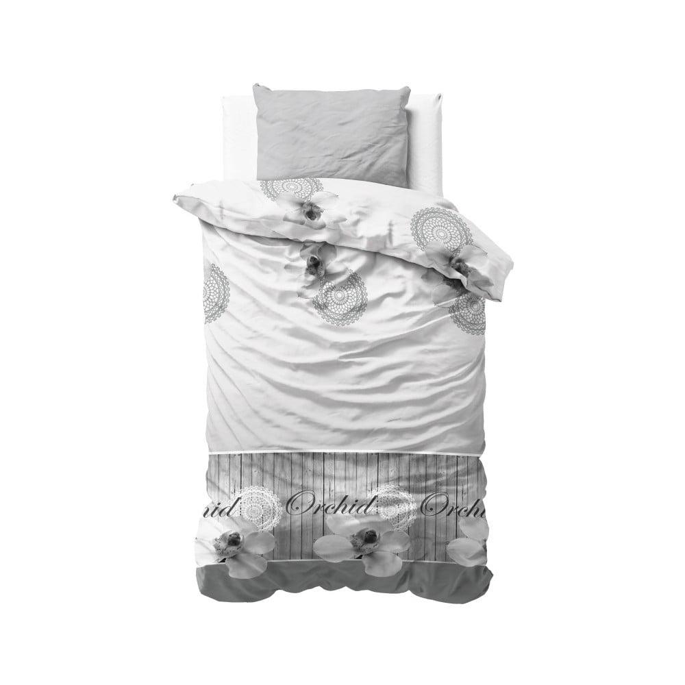 Obliečky na jednolôžko z mikroperkálu Zensation Orchidee, 140 × 220 cm