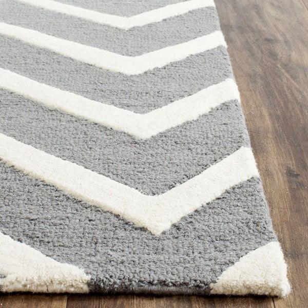 Vlnený koberec Edie Light Grey, 152x243 cm