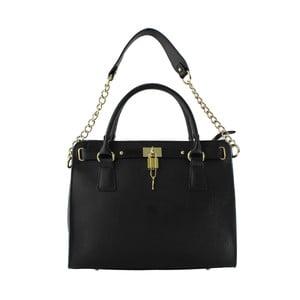 Kožená kabelka Sari, čierna