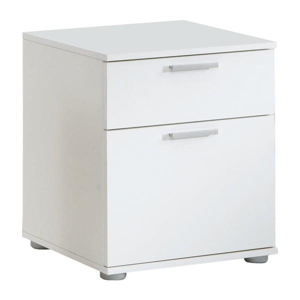 Biely nočný stolík s 2 zásuvkami 13Casa Jack