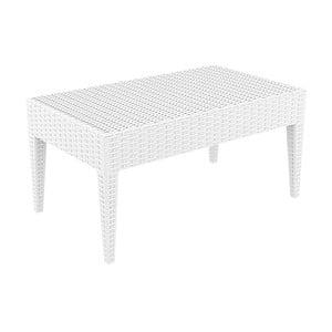 Biely záhradný konferenčný stôl Resol Arctic, 45 × 53 cm