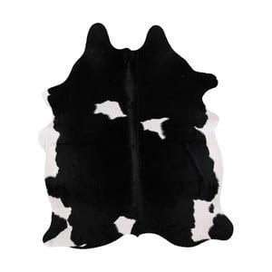 Čierno-biela pravá hovädzia koža Arctic Fur Nero Creamy, 195 × 165 cm