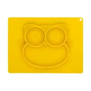 Žltý silikónový podnos pre deti Brandan Baby