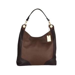 Kožená kabelka Emilio Masi Yala, hnedá/čierna