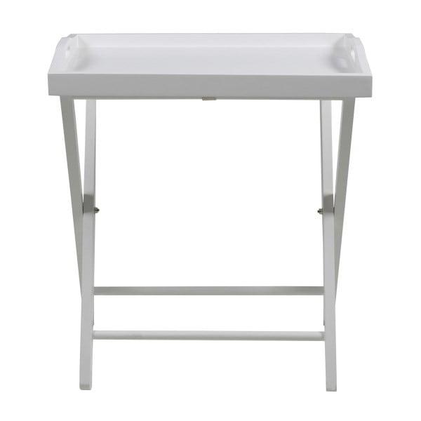 Odkladací stolík Vassoio, biely