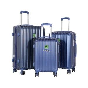 Sada 3 tmavomodrých cestovných kufrov LULU CASTAGNETTE Edge