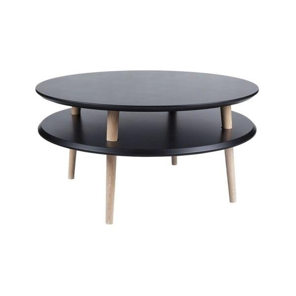 Konferenčný stolík UFO 35x70 cm, čierny