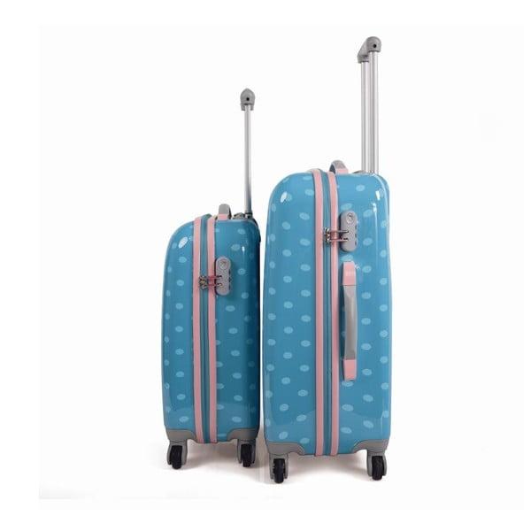 Sada 2 cestovných kufrov v tyrkysovej farbe SKPA-T