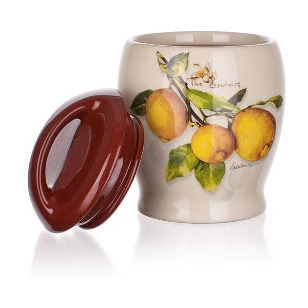 Keramická dóza Banquet Lemon, 15 cm