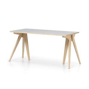 Sivý písací stôl Devoto Moody