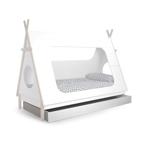 Biela zásuvka pod posteľ DeEekhoorn Tipi