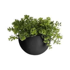 Matne čierny nástenný keramický kvetináč PT LIVING Globe