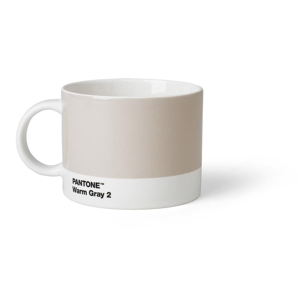 Sivý hrnček na čaj Pantone Warm Gray 2, 475 ml