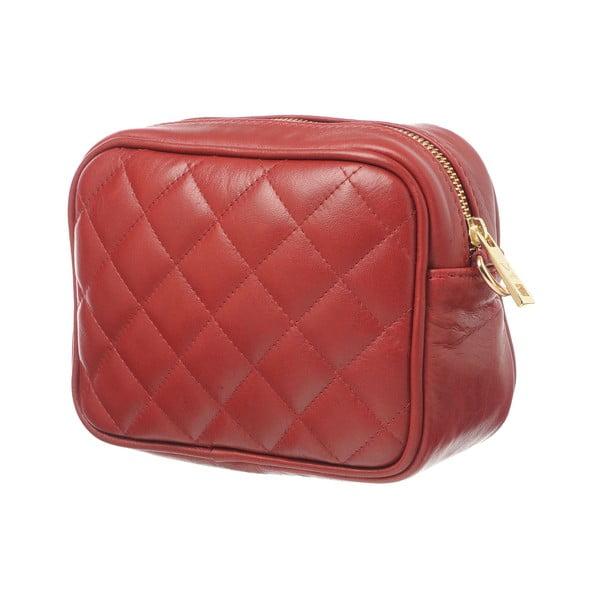 Kožená listová kabelka Coco Red