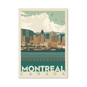 Plagát Americanflat Montreal Skyline, 42 x 30 cm