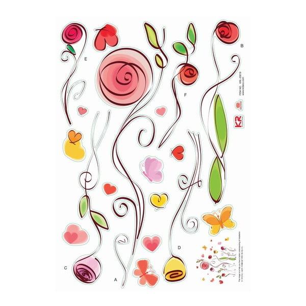 Sada samolepiek Ambiance Roses And Butterflies Decals