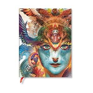 Nelinkovaný zápisník s mäkkou väzbou Paperblanks Dharma Dragon, 18 x 23 cm