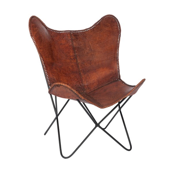 Kreslo Lounge Leather Brown