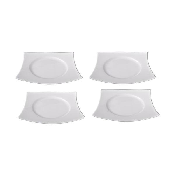 Sada 4 porcelánových dezertných tanierov Sola Sandra, 21.7cm
