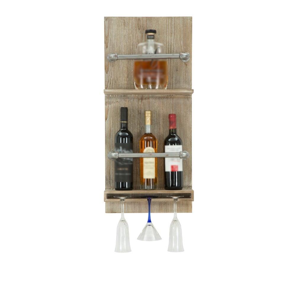 Nástenný držiak na fľašky a poháre Mauro Ferretti Bar, 76 x 34 cm