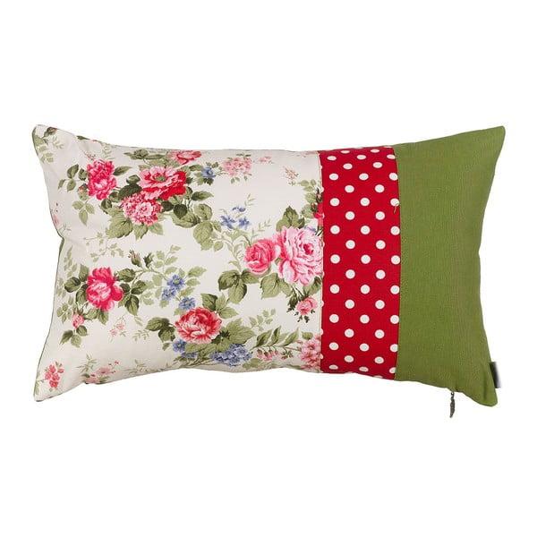 Vankúš s náplňou Pink and Green Flowers