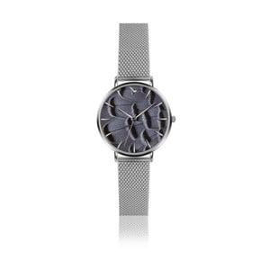 Dámske hodinky s remienkom z nehrdzavejúcej ocele sivej farby Emily Westwood