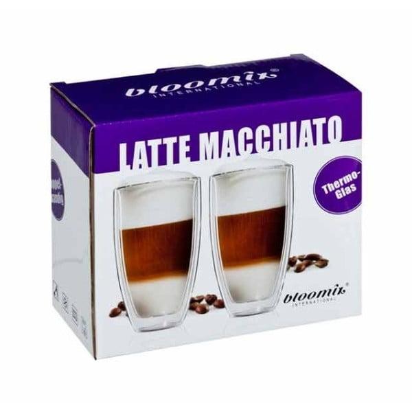 Sada 2 veľkých hrnčekov na latte macchiato bloomix Roma