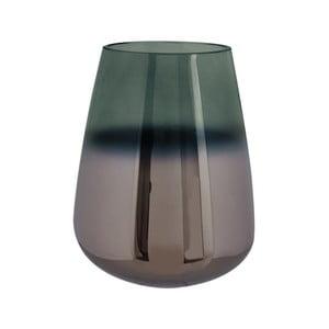 Zelená sklenená váza PT LIVING Oiled, výška 18 cm