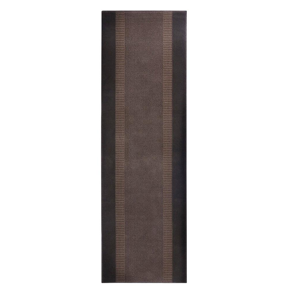 Koberec Basic, 80x300 cm, hnedý