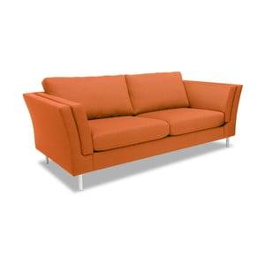 Oranžová pohovka pre dvoch Vivonita Connor