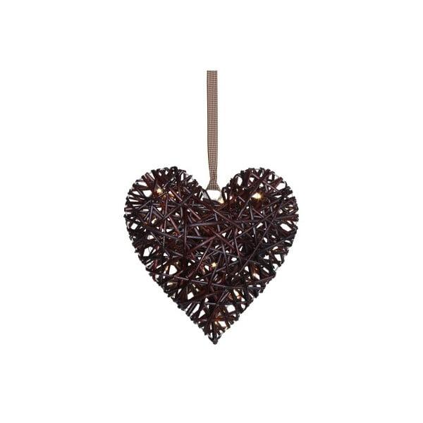 Svietiaca LED dekorácia Best Season Brown,33cm