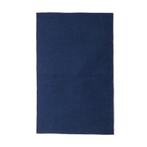 Modrý bavlnený ručne tkaný koberec Pipsa Navy, 140×200 cm
