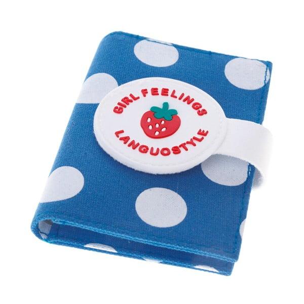 Modré puzdro na doklady Languo Strawberry