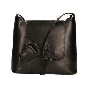 Čierna kožená kabelka Chicca Borse Carmello