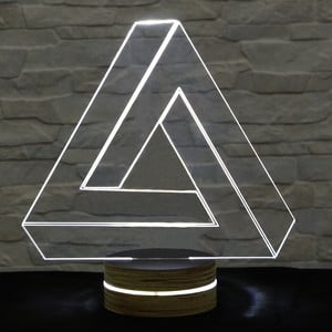 3D stolová lampa Triangle II