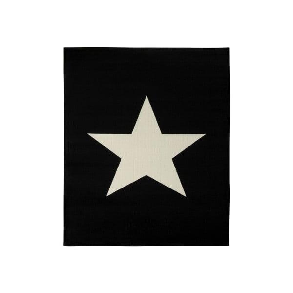 Detský čierny koberec Hanse Home Star, 140×200 cm