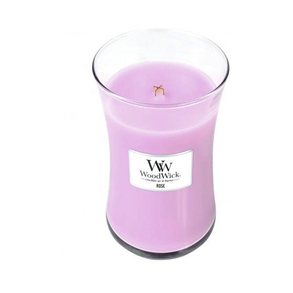 Sviečka s vôňou ruží Woodwick, doba horenia 130 hodín