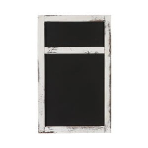 Biela nástenná tabuľa Mendler Shabby Billboard