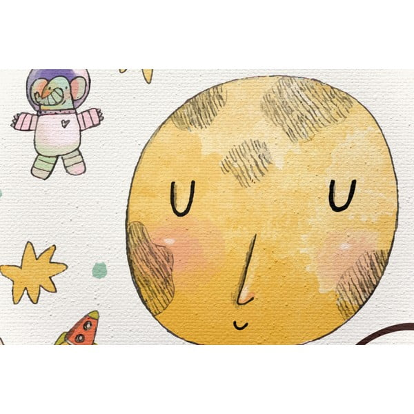 Plátno Little Nice Things Moon, 70 x 50 cm
