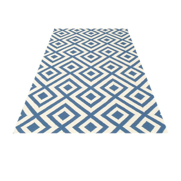 Vlnený koberec Luisa Middle Blue, 240x155 cm
