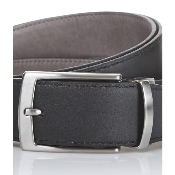 Kožený opasok Black Grey, 115 cm