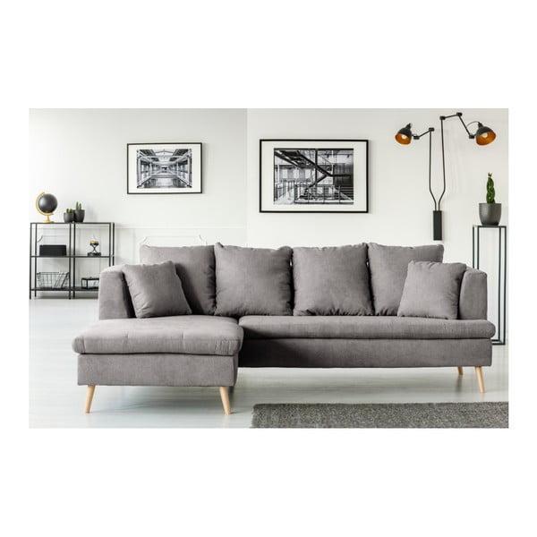 Sivá pohovka pre štyroch s leňoškou na ľavej strane Cosmopolitan design Newport