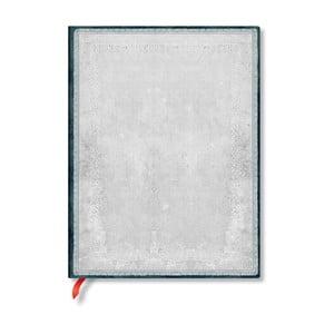 Linajkový zápisník s mäkkou väzbou v striebornej farbe Paperblanks Flint, 176 strán
