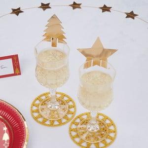 Sada 10 ozdôb na poháre Neviti Dazzling Christmas