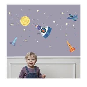 Svietiace nástenné samolepky Art For Kids Space