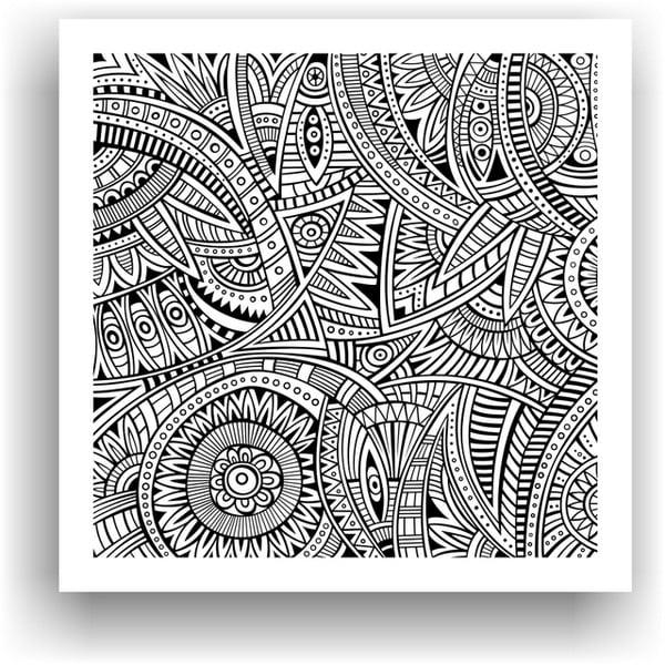 Obraz na vymaľovanie Color It no. 25, 50x50 cm