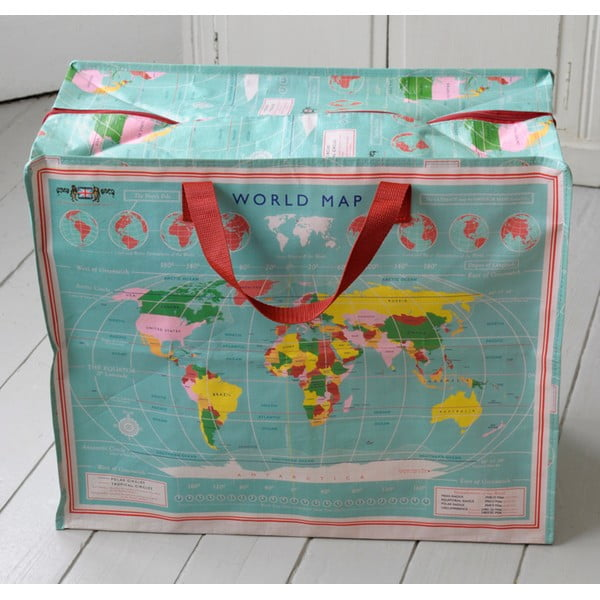 Veľká taška Rex London World Map, 55×48cm