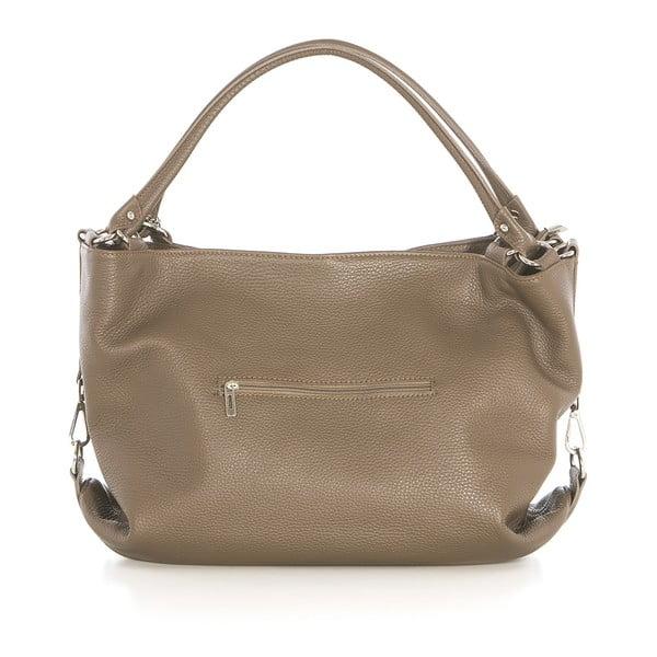 Béžová kožená kabelka Federica Bassi Sirina