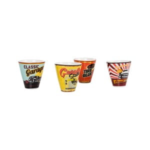 Sada 4 porcelánových kalíškov On The Way