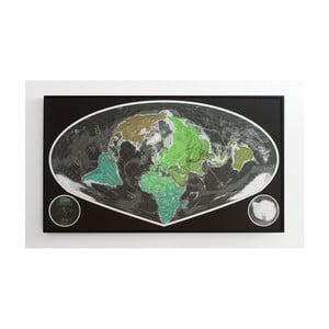 Zelená magnetická širokouhlá mapa The Future Mapping Company Future Map, 101×58cm
